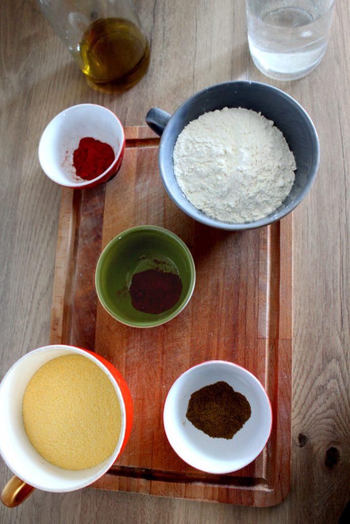 Ingrédients des nachos maison