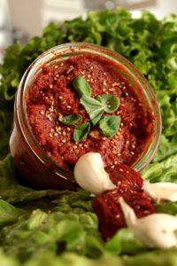 Sauce au pesto rouge (rosso)