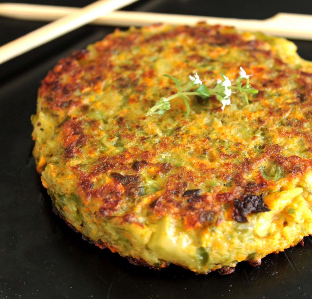 Galette Pomme de terre carotte haricot vert diététique
