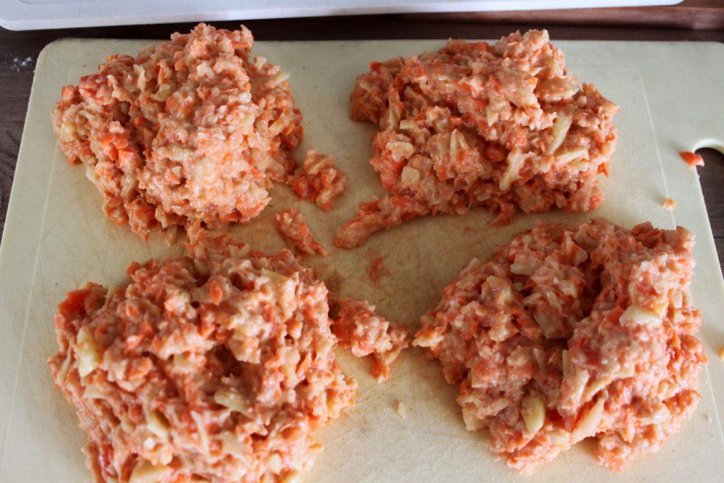 Galette de pomme de terre carotte cru