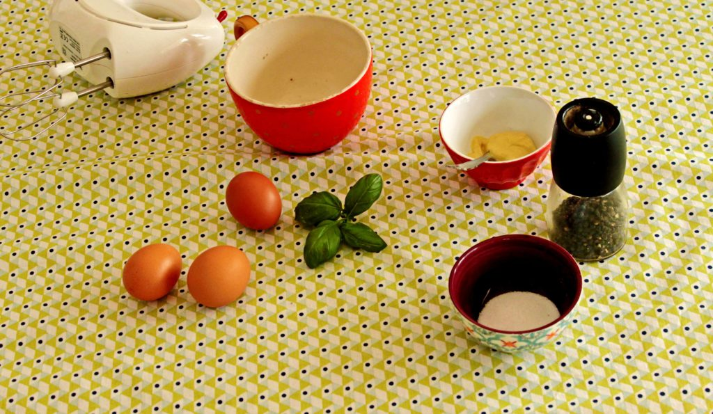 Ingrédients de la mayonnaise maison