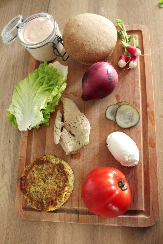 Ingrédient du hamburger diététique