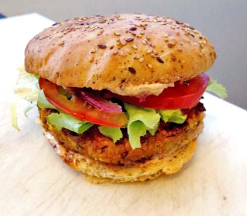 Un burger végan 100% végétale